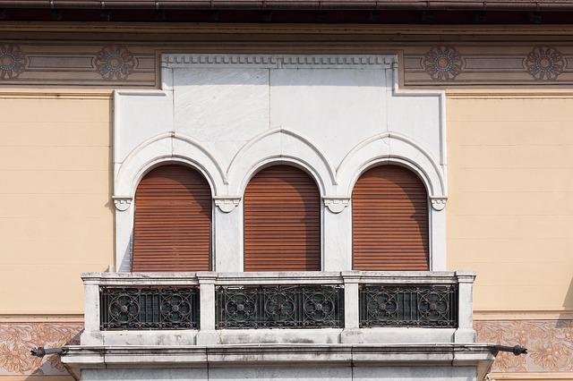 mramorový balkon