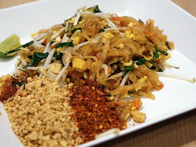 asijské jídlo, nudle