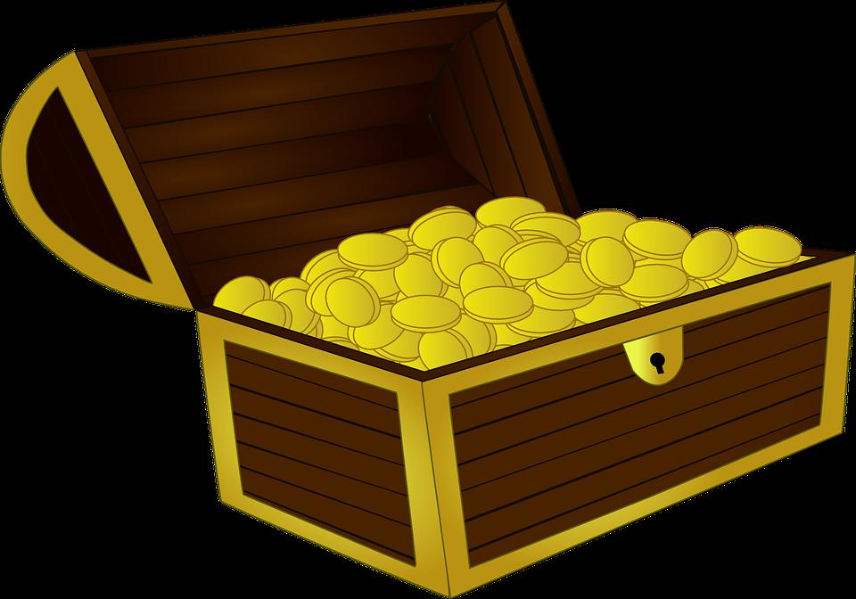 truhla peněz